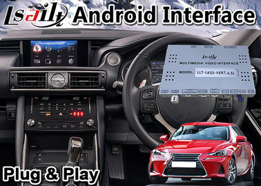 صندوق واجهة Android Auto لـ 2016-2020 Lexus IS 200t Knob Control ، GPS Navigation